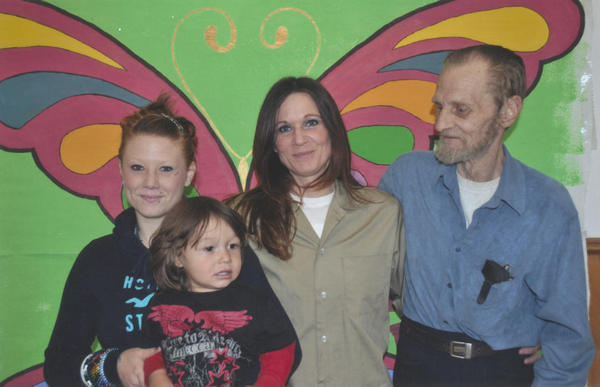 Barbara, center, with her father Bruce, who recently passed, daughter Alannah, and grandson
