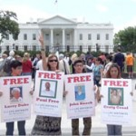 Amy takes the Free Pot Lifers posters to the White House!