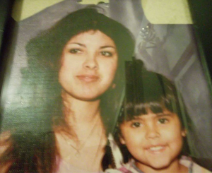 Angie with daughter, Francine before prison