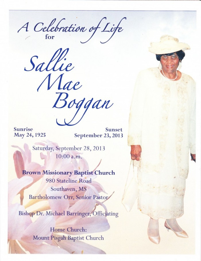 Alice's Mother, Sallie Boggan
