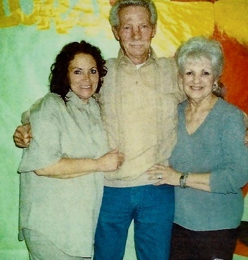 Terry with her mother and father