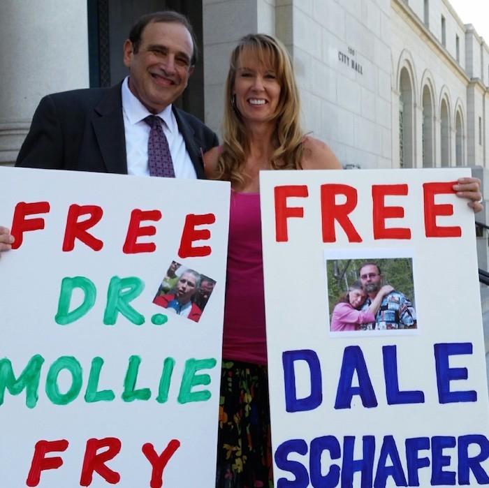 Amy Povah with Attorney General candidate Ron Gold Both Support Clemency for Dr. Fry and Dale Schafer
