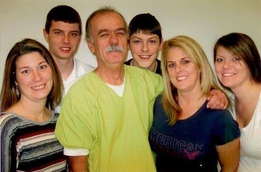 Darrell Hayden with his family - will be freed on July 28, 2015