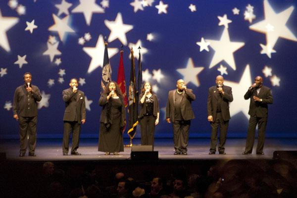 The New Directions Veterans Choir sang Acapella