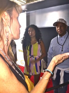 Amy engaged Simmons on the Red Carpet at his Def Jam Comedy Event