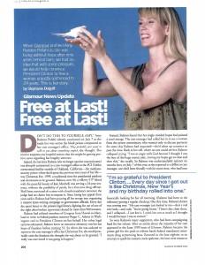 October 2000 issue of Glamour Magazine Focused on Amy's Hard-Won Freedom by Stephanie Dolgoff