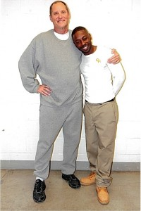 Paul Free, also serving LIFE FOR POT, with fellow inmate Corvain Cooper