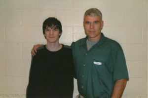 Chris Williams, in prison for pot, with son Sage.