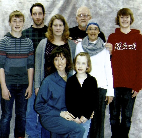 Mandy and her family. Sadly, Mandy's mother (to Mandy's upper left) passed away due to bone cancer on August 3, 2014