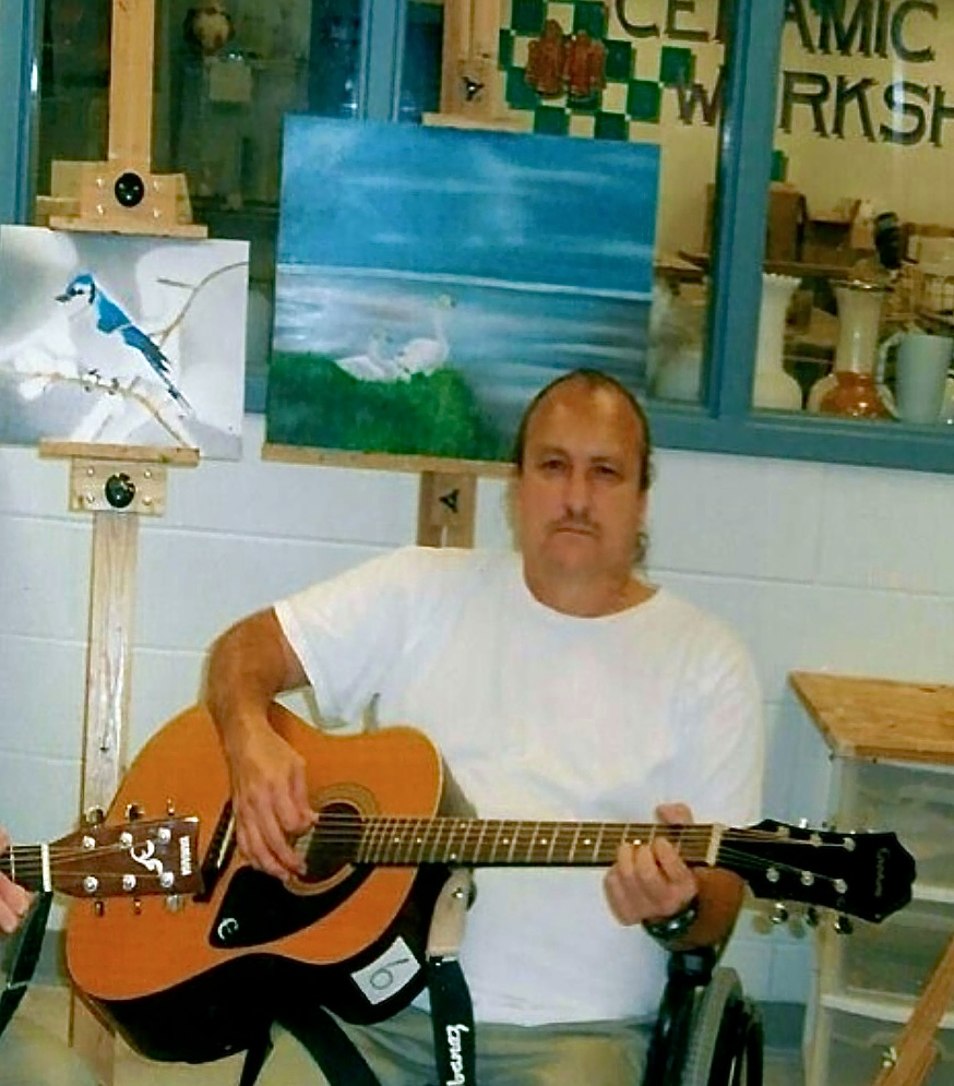 Michael in the art room at Terre Haute USP