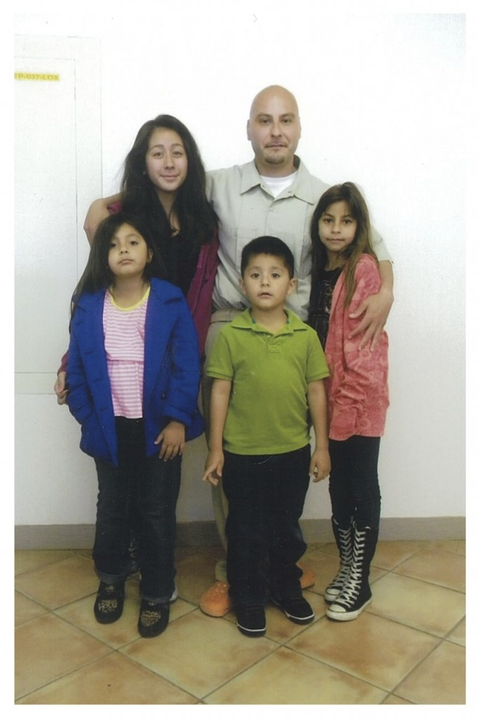 Ricardo with his wife and three children