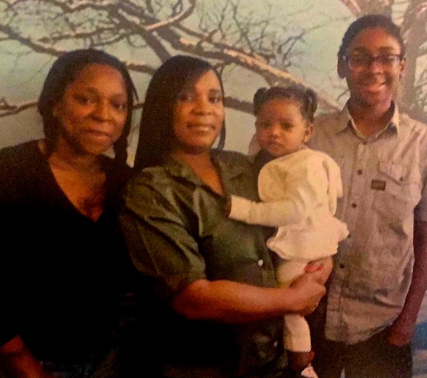 Michelle with niece, Lisa, and Lisa's son Kahlil