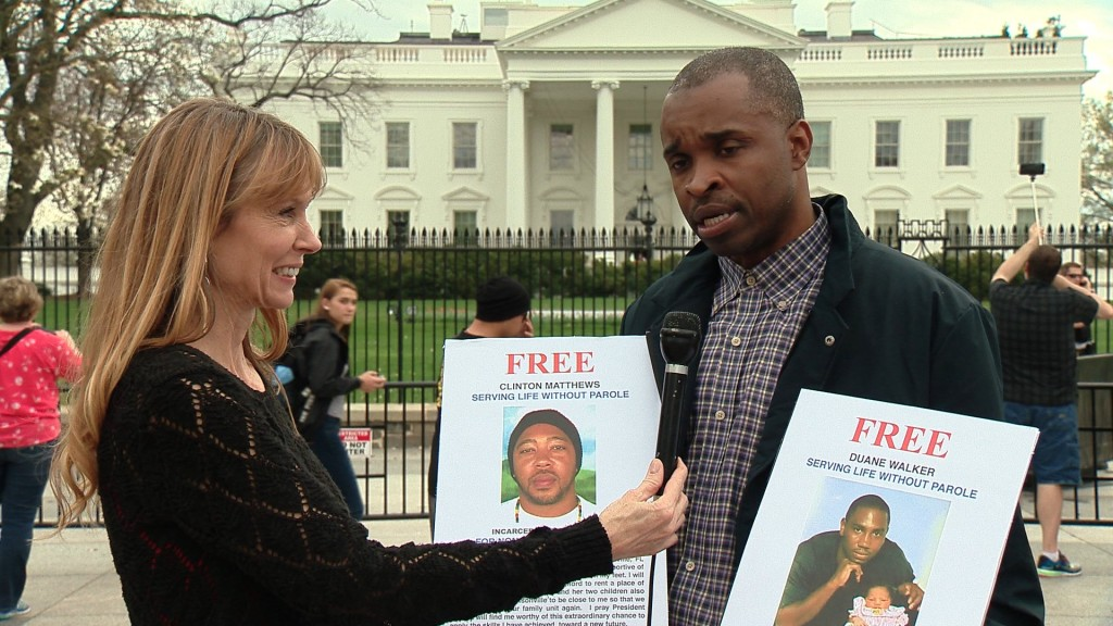 Amy Povah interviewing Norman Brown in front of the White House only 5 days before Duane Walker receives clemency