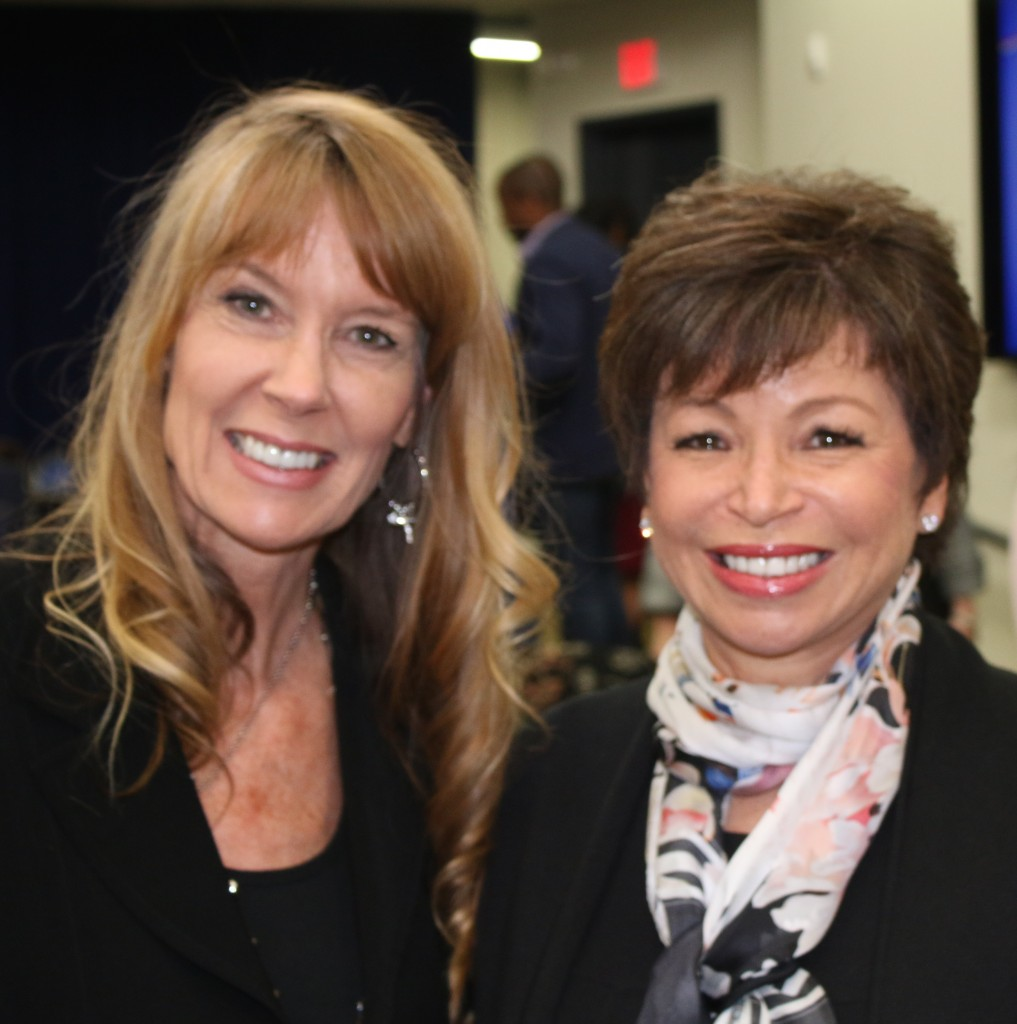 Amy Povah with Sr. White House Advisor, Valerie Jarrett