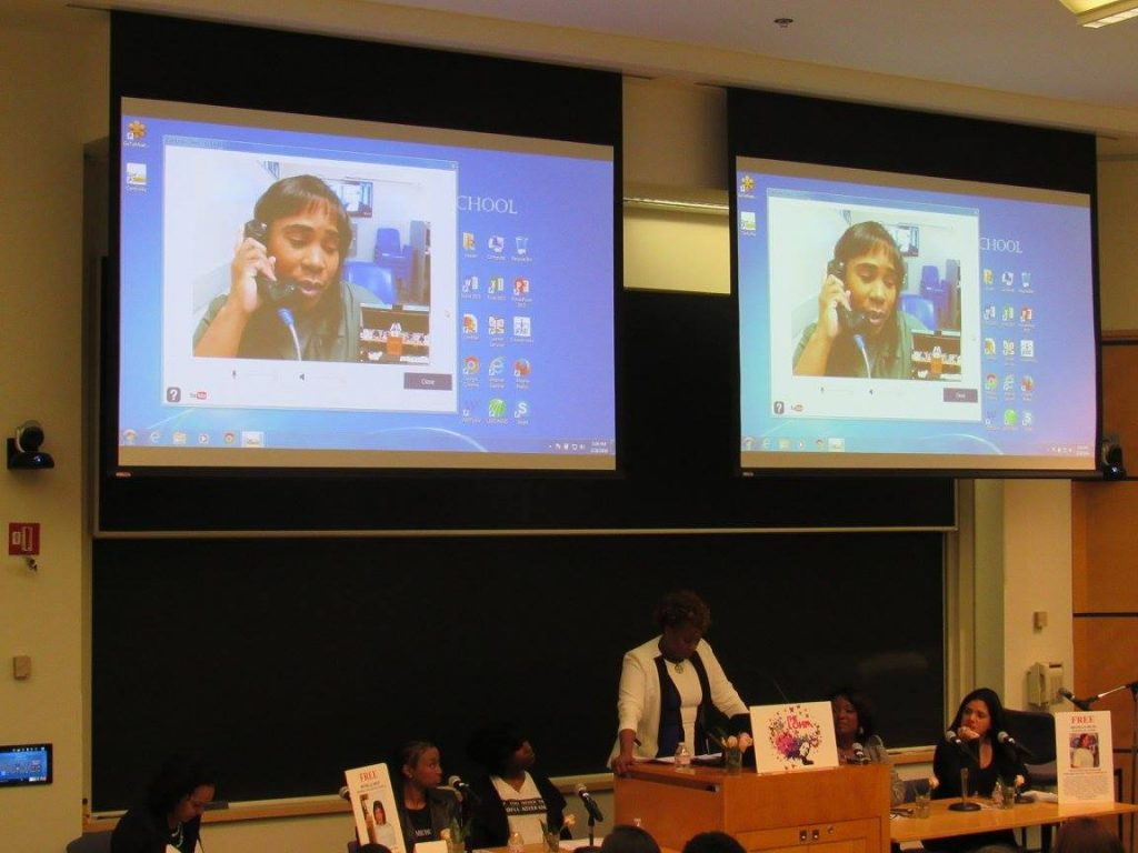 Michelle Skyped in to Symposium at Columbia University - BRAVO!