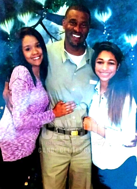 Trevis with his two daughters