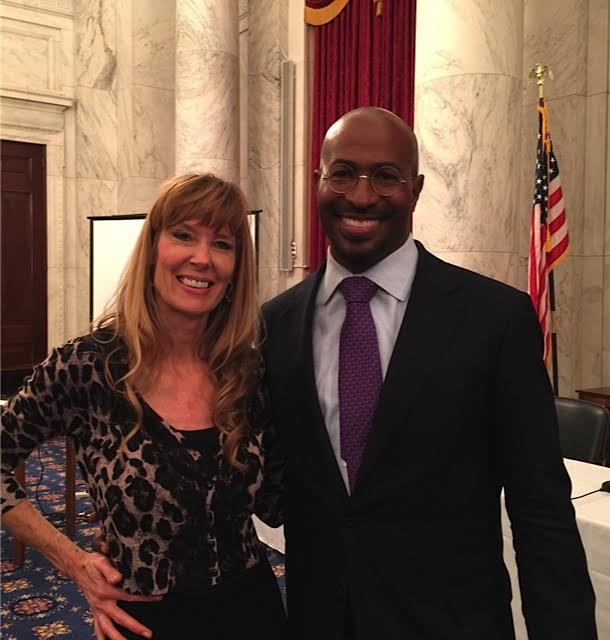 Amy Povah with Panel Moderator Van Jones