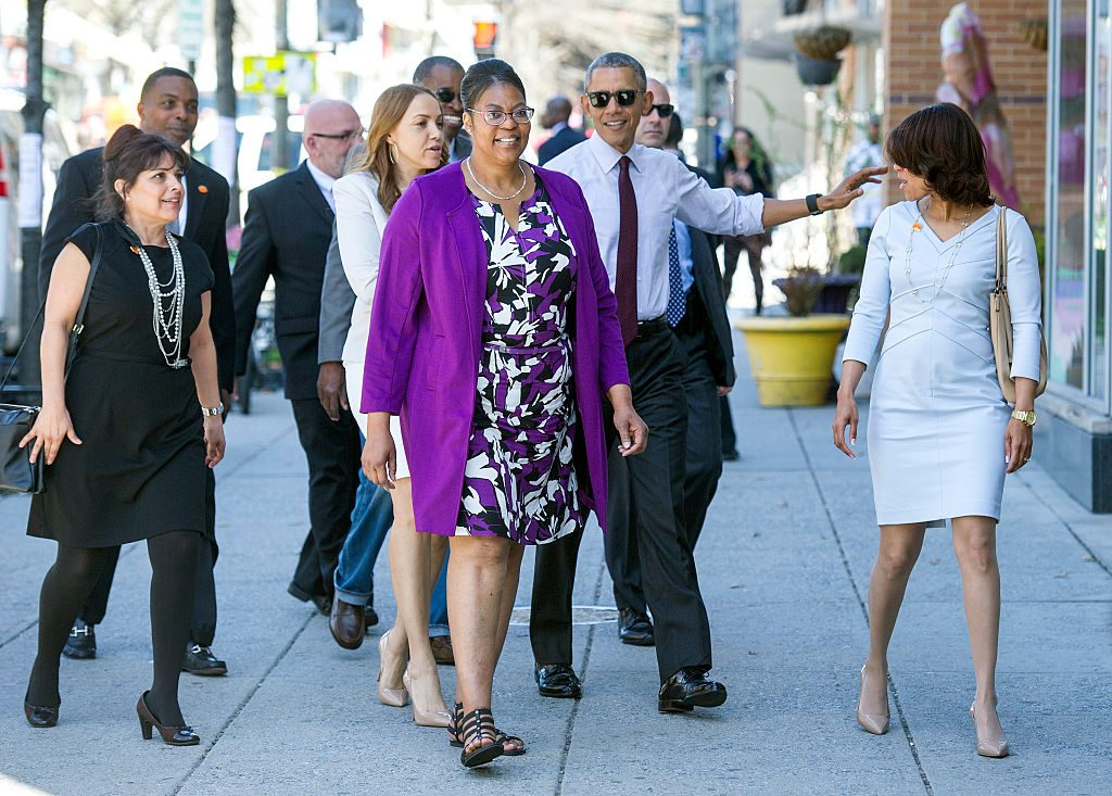 Getty Images - Ramona and others going to lunch with President Obama