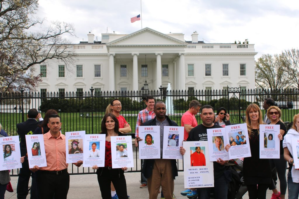 CAN-DO White House Vigil - Five clemency recipients advocating for people they left behind