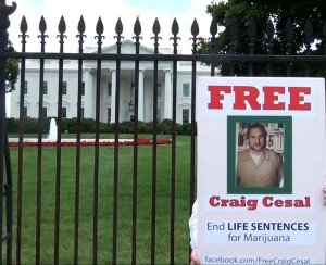 Amy Povah takes Life for Pot Prisoner Craig Cesal to the White House 2014
