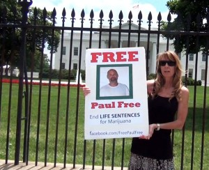Amy Povah takes Life for Pot Prisoner Paul Free to the White House 2014