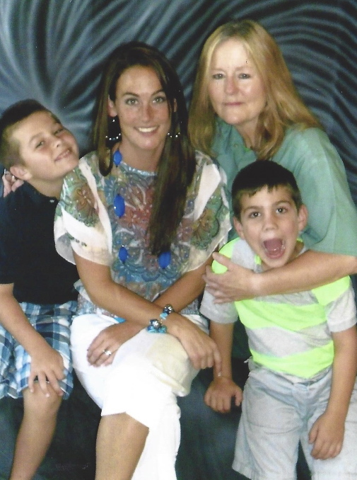 Gracie with daughter and grandsons