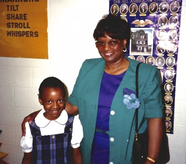 Miquelle and her Grandmother Detroit Country Day School Circa 1993