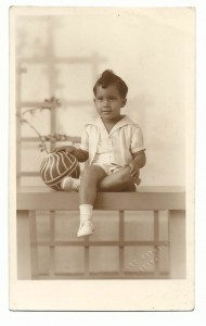 Antonio Bascaro as a young child