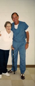 Paul Free with his mother, the late Maxine Free, not long after he was first incarcerated.