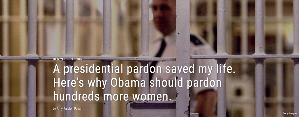 Amy R. Povah's Op Ed in Fusion seeks to increase more pardons for women