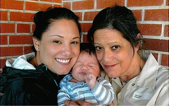 Irma with her daughter and grandchild