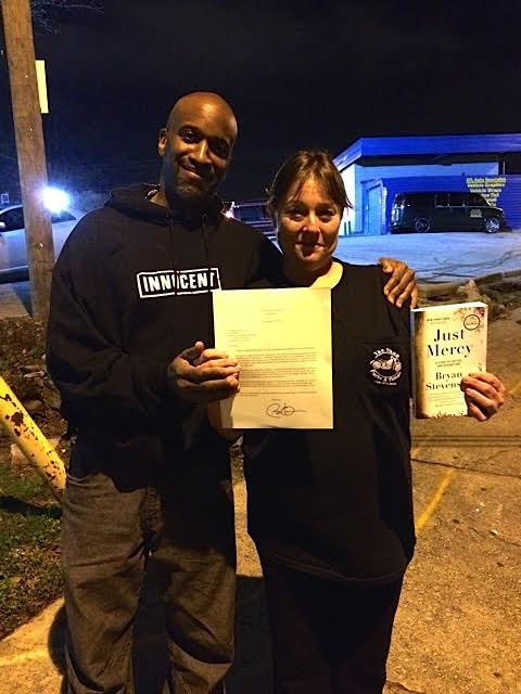 Malik and Billie Marie Taylor after she received clemency from President Obama