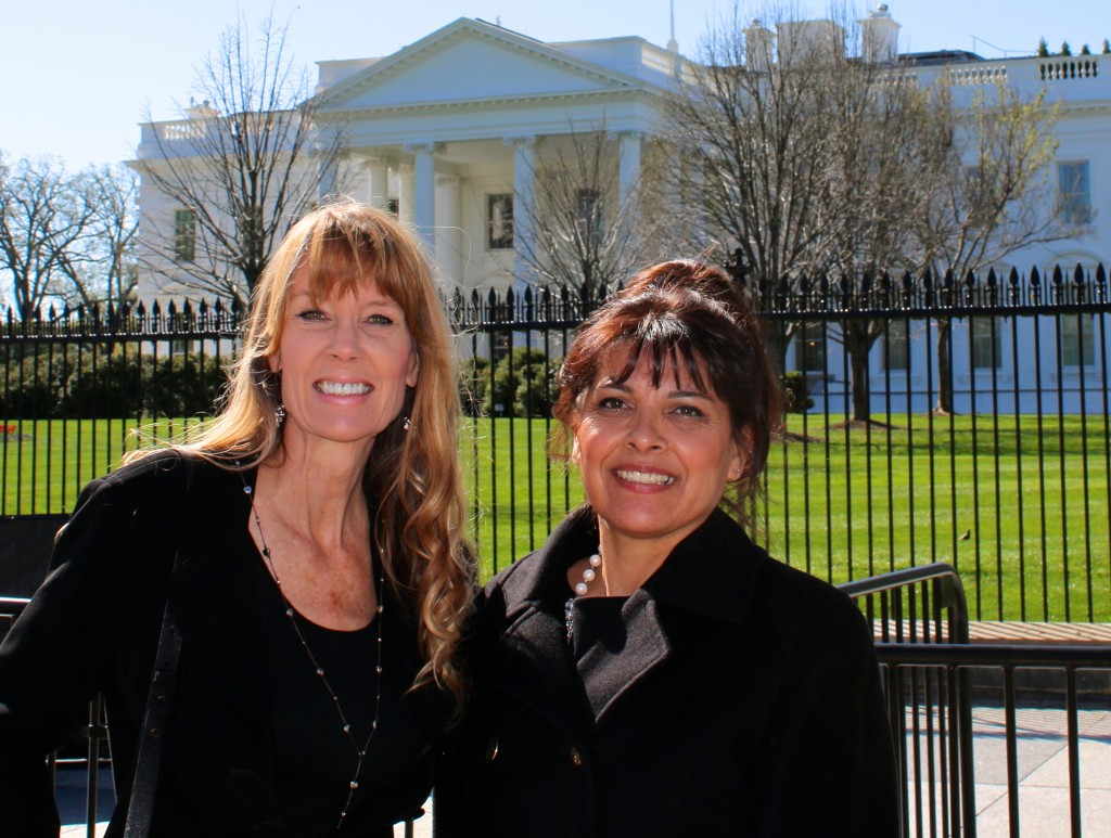 Former prisoners from the same institution going to the White House