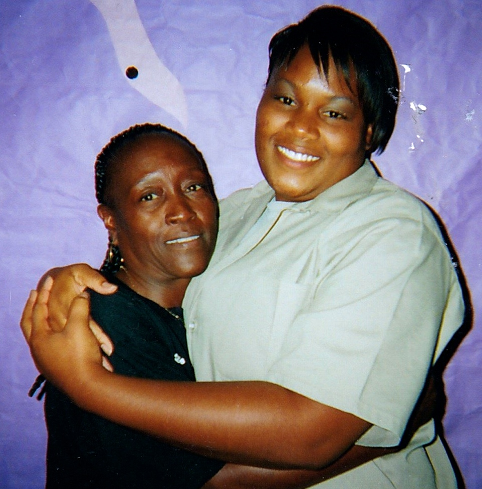 Tynice with her mother