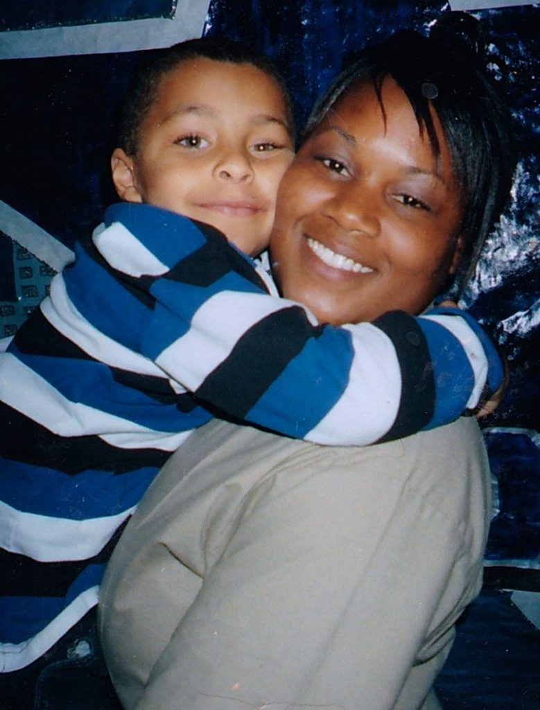 Tynice with her son