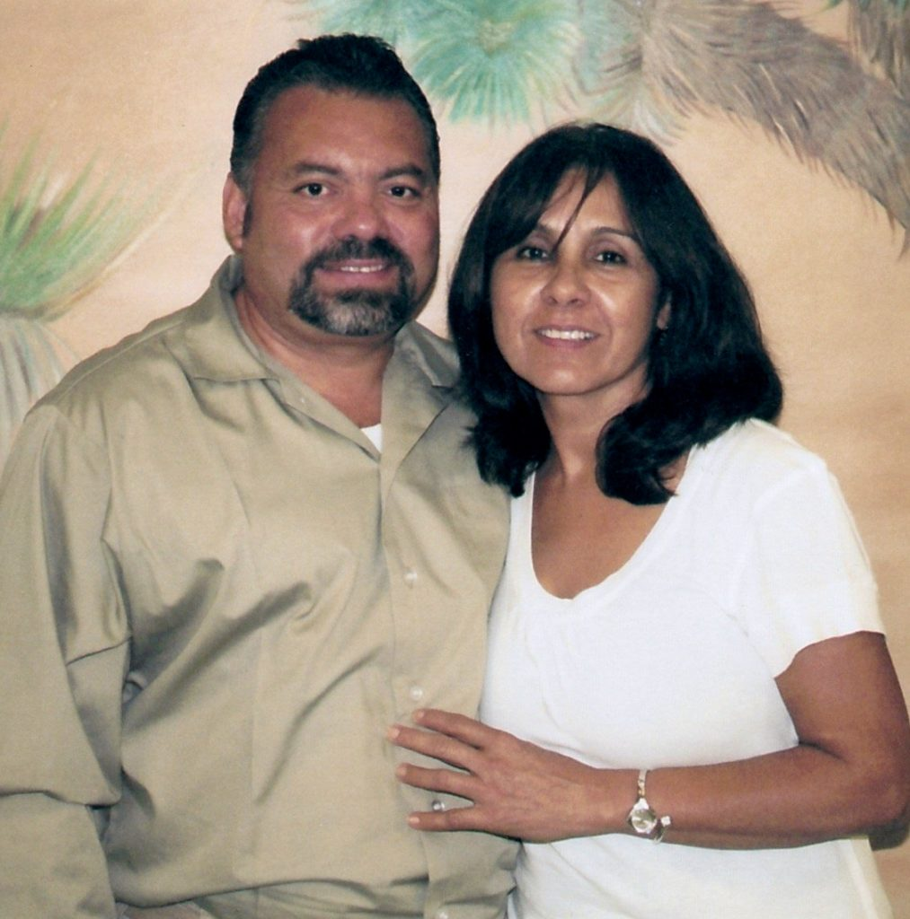 Wilfredo with his wife, Reyna
