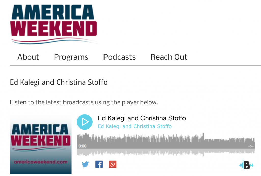 America Weekend - Amy Povah Interview - June 22nd, 2016