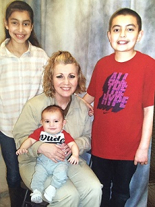 Deneise with her children