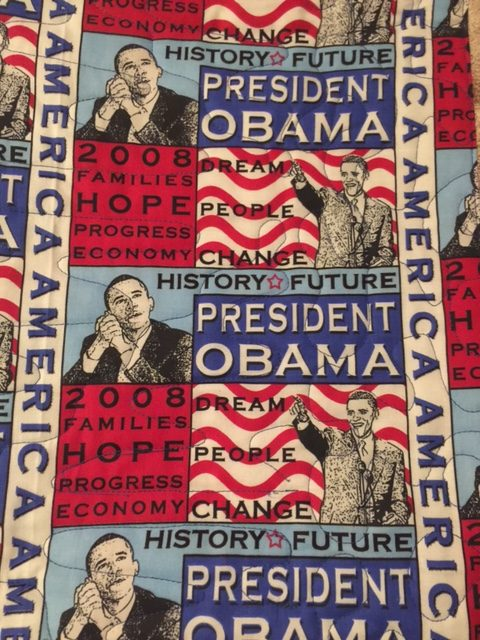 Backside of the quilt made of this fabric