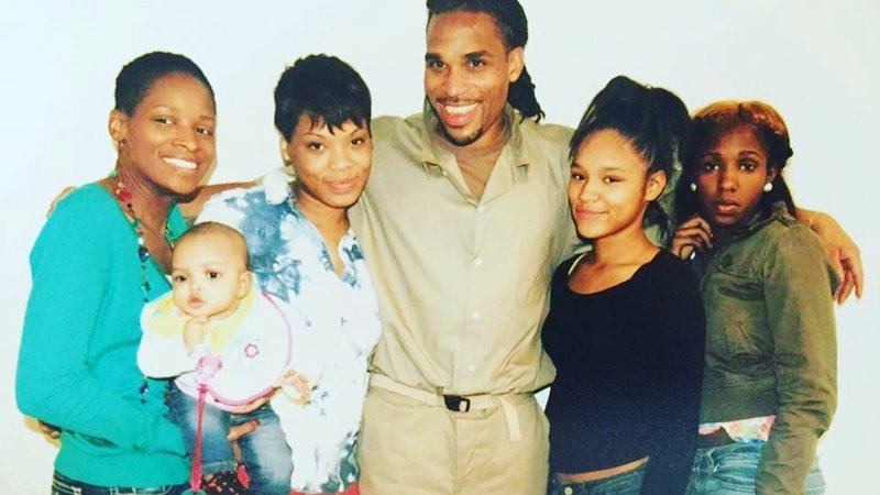 Charles with family members